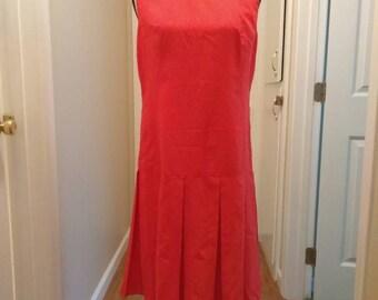 1960s Dropwaist Red Dress