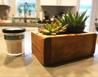 Succulent Planter, Reclaimed Wood Planter, Succulents, Cacti, Barn Wood Planter, Barn Wood, Planter,