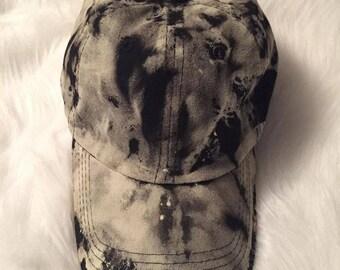 Reverse Bleach Tie-Dye Adjustable Hat