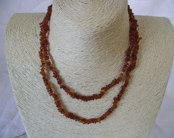 Cognac Amber Necklace in Nuggets