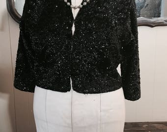 Vintage Sequin cropped sweater