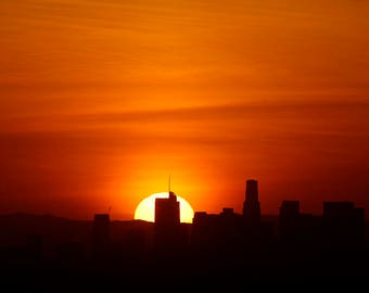 Downtown Los Angeles Sunset - Wilshire Grand Tower