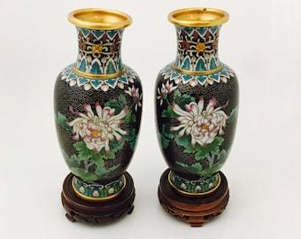 A Pair Of Zi Jin Cheng Cloisonné Vases / The Forbidden City Vases