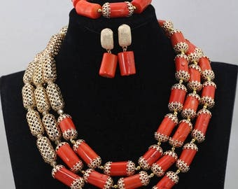 New  Elegant Coral Wedding Beads