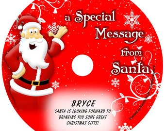 Personalized children's music CD - Your Child's Name in the song! Message from Santa!
