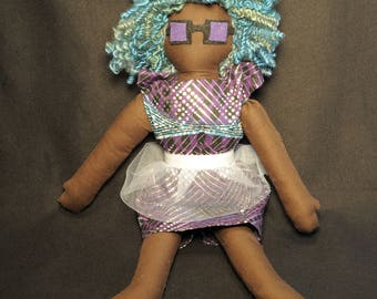 Octavia Natural Hair Doll ooak handmade cloth doll