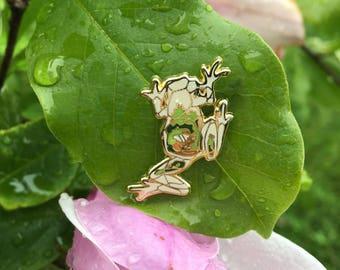 Glass Frog Pin