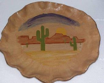 Sunset Over The Desert Stoneware Casserole