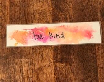 watercolor bookmark