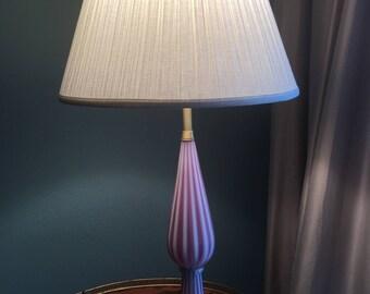 Glass blown vintage lamp