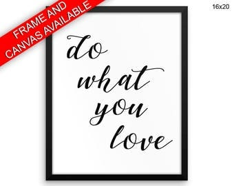 Do What You Love Canvas Art Do What You Love Printed Do What You Love Typography Art Do What You Love Typography Print Do What You Love