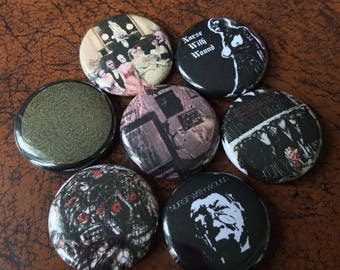 """NURSE WITH WOUND inspired 1"""" Button Set- Coil, Throbbing Gristle, Industrial"""