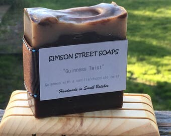 Guinness Twist Soap (Handmade with Guinness Beer and Cocoa, Scented Vanilla)