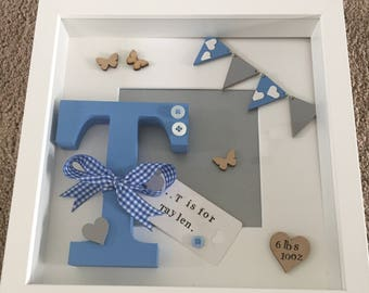 Personalised new baby letter picture