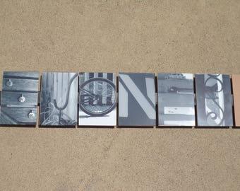 Custom 7-letter Photo Sign