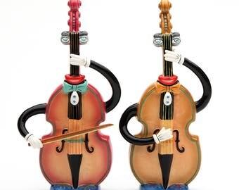 Musical Instrument Salt and Pepper Shaker - Basses
