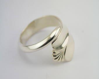 """Handmade Norwegian Silverspoon Ring """"Rådhus Vifte"""""""