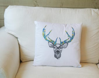 Deer Illustration cushion