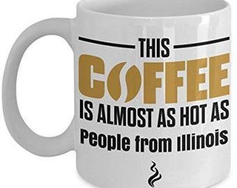 Illinois Coffee Mug, Illinois Mug, Illinois gifts, I love Illinois mug, Illinois state mug, Illinois lover Gifts
