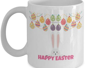 Easter Rabbit Design, Happy Easter mug, Easter mug, Easter coffee mugs, easter gifts, easter gifts for women, easter gift ideas