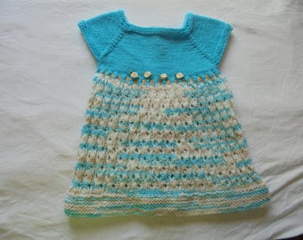 Blue and Mulitcolored Baby Dress