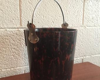 Midcentury Marbled Bakelite Champagne Bucket