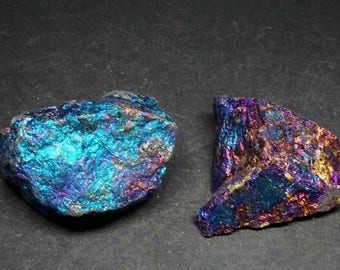 2 Chalcopyrite Specimens 6 Oz Peacock Ore 07543