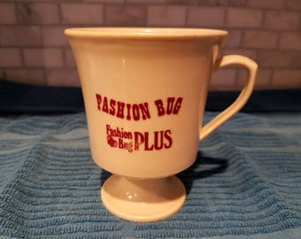 Vintage  80s Fashion Bug coffee mug.