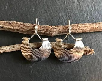 Earrings; Boho. Contemporary Handmade Sterling Silver
