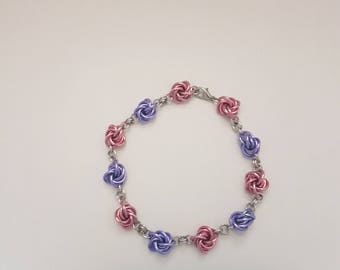 Mobius Flower Chainmaille Bracelet