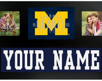 University of Michigan Wolverines NCAA College Jersey Custom Picture Frame
