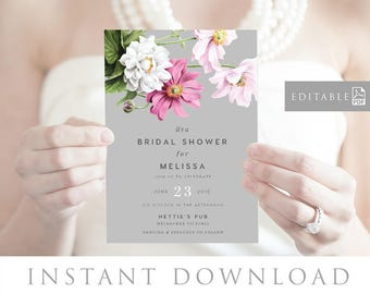 Bridal Shower Invitation INSTANT DOWNLOAD,  Bridal Shower Invite, Before I do, Bachelorette Printable, Hens Night Invitation - Florence
