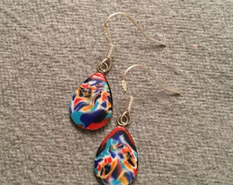 Teardrop earrings multicoloured