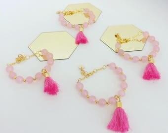 Rosequartz bracelet