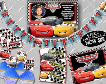 CARS 3 INVITE Printable Digital Cars 3 Invitation, Cars Invitation, Cars Invite, Cars 3 Party, Cars 3 Decorations, Cars Birthday Party