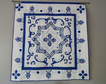 Turkish pattern in blue and white
