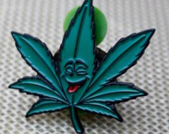 Happy Leaf Hat Pin