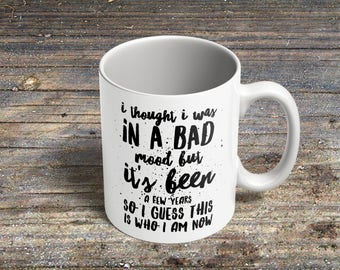 Novelty 'Bad Mood' Coffee Mug