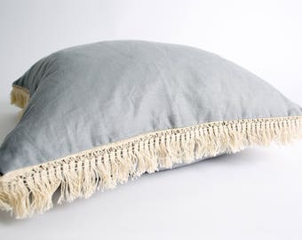 by ARNA Grey Fringe Cushion