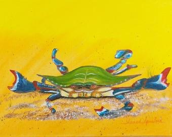 Crab Original painting