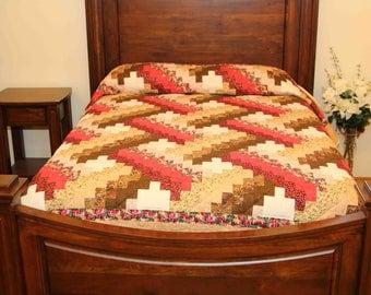 Woven Brickwork Pattern Amish Made Quilt