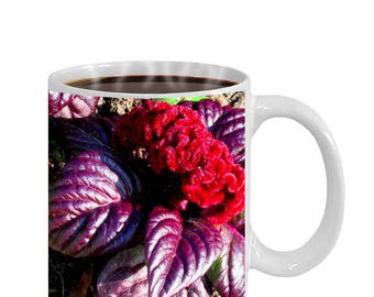 Flower Coffee Mug — velvety red flower