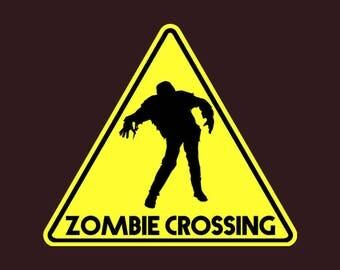 Zombie Crossing/Zombie Crossing PNG/PNG/PNG Files/Art/Art Prints/Design/Design Tshirt/Instant Download/Design Your Own/Art Prints Vintage