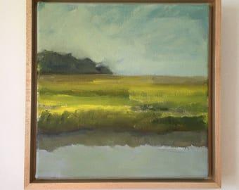 "Original Oil Painting, Truro Marsh / 8"" x 8"""