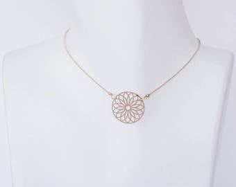 Lotus flower minimalist necklace