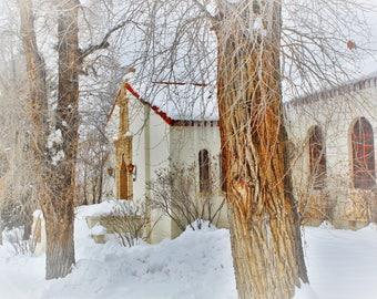 Winter Library Original Photography Print