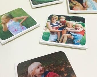 Personalized Photo Coasters (Set of 4)