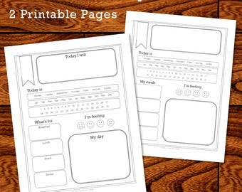 Kid's First Daily Planner - Letter Size Printable Planner Insert for Young Children