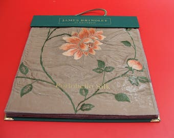 James Brindley Fabric Sample Book 32 samples for crafts patchworks cushions etc 43cm x 41.5cm size