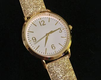 Gold Glitter Watch